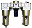 FRL200/400/800/1600 Series Modular Filter, Regulator and Lubricator Components